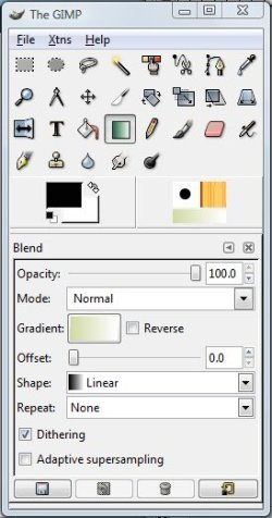 The GIMP dialog box.