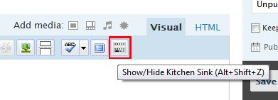 Turn on the kitchen sink to get more writing options.