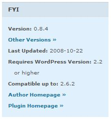WordPress Plugin FYI Box
