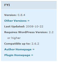 WordPress Plugin FYI Box
